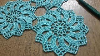 Tığişi Örgü Dantel Motifi Yapımı, Çarkıfelek Modeli \u0026 Crochet