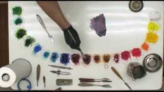 Fast Motion - How To Quickly Begin Block In For Oil Painting Roses by Bill Inman