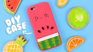 DIY SILICONE PHONE CASE! - Cute Watermelon Phone Case Tutorial