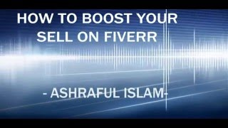 How to boost your sell on fiverr