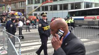 HIGH RANKING NYPD BRASS, OFFICERS & DETECTIVES MOBILIZING TO DEAL WITH MAJOR MARCH IN MANHATTAN.