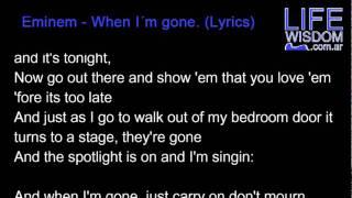 Eminem - When I´m gone