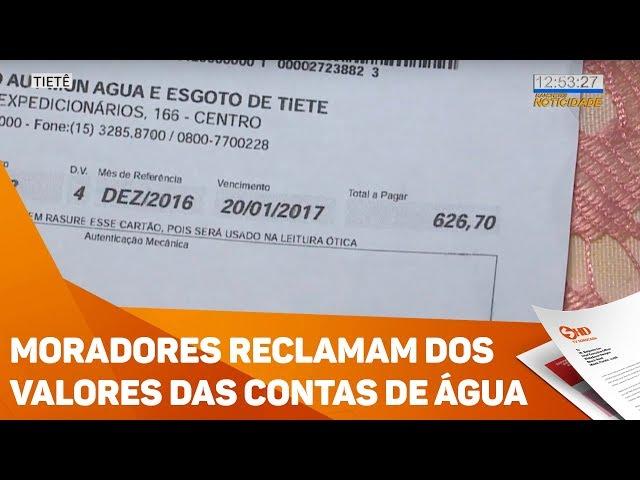 Moradores reclamam dos valores das contas de água - TV SOROCABA/SBT