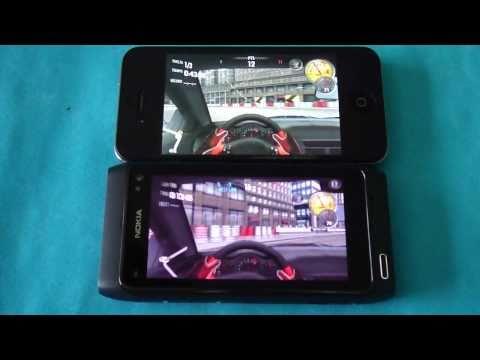 N8 vs iPhone4 GAMES Review