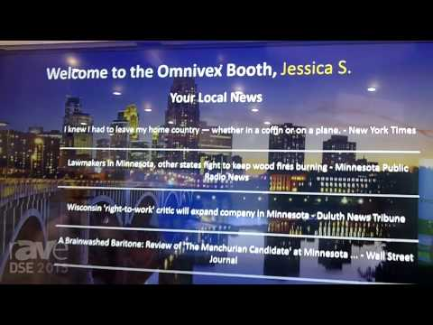 DSE 2015: Omnivex Demos Interactive Content With Barcode Scanning