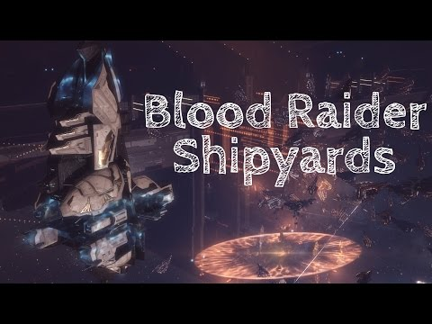 Eve Online | Blood Raider Shipyards | Massive PvE Fight | So