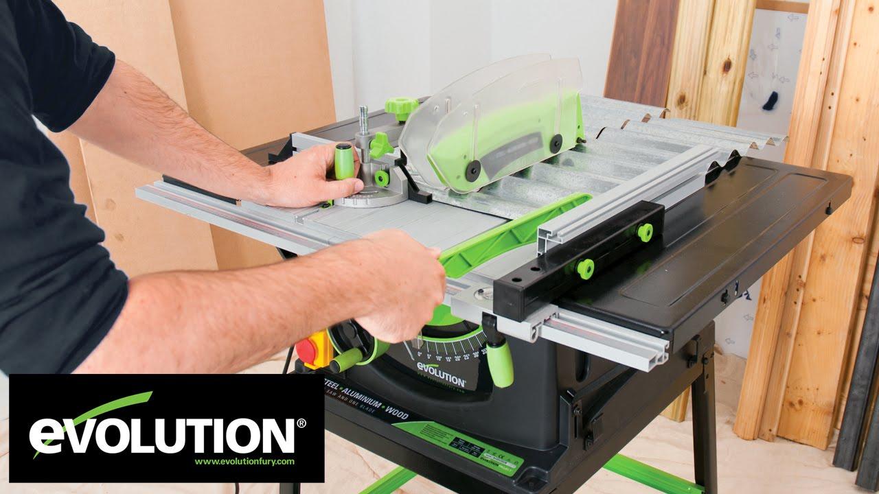 Evolution FURY5: 255mm Multipurpose Table Saw - YouTube