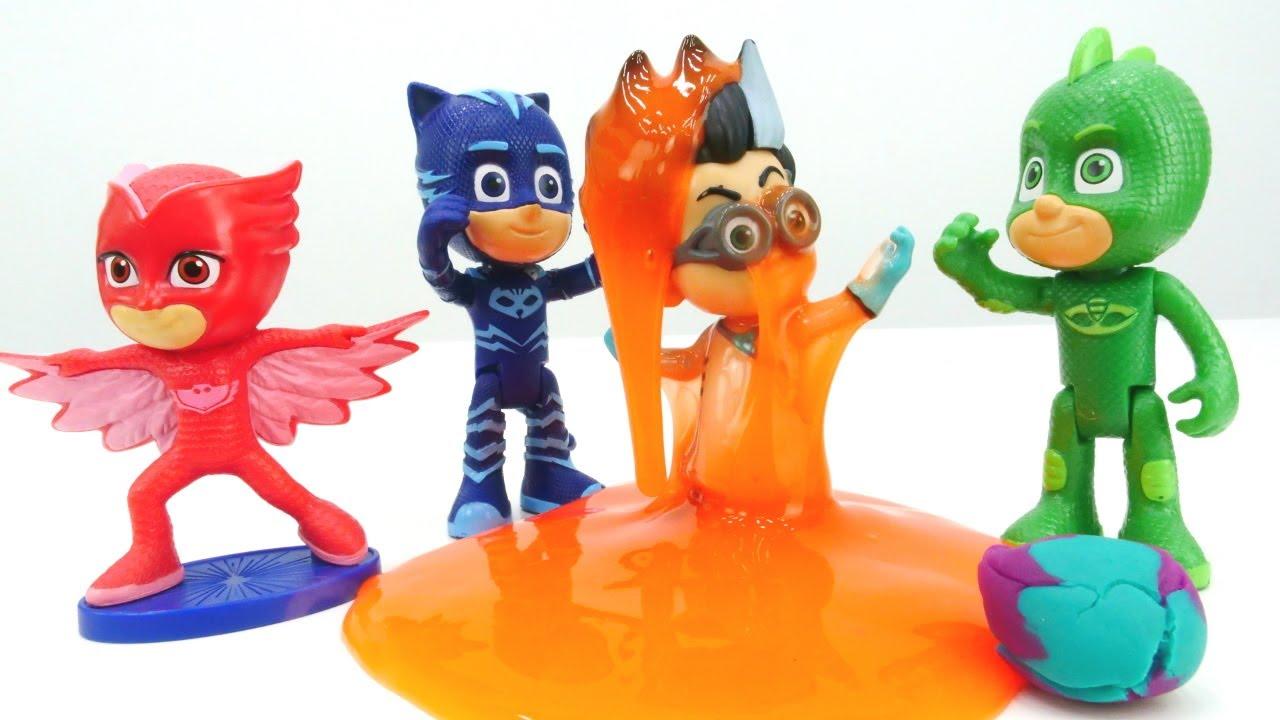 Видео с игрушками из мультиков про Героев в Масках ...