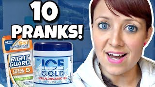 10 OF THE BEST PRANKS YOU CAN DO! 📍 How To With Kristin