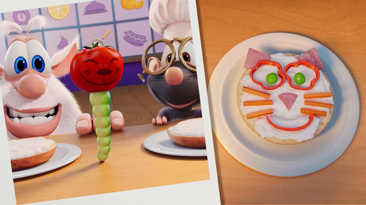 بوبا 🐱 لغز الطعام: قطط البيجل 🥯 كارتون مضحك للأطفال