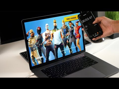 Fortnite On NEW 2018 MacBook Pro (MacOS And Windows 10 Bootcamp Gameplay)