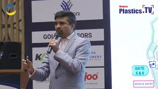 Mr. Cyril Pereira speaking on the opportunities and facilities at IndiaPlast 2019 Rajkot Roadshow