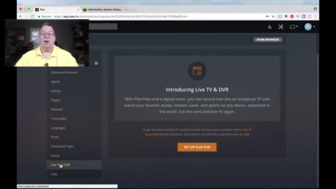 How to setup Plex/Live-TV & DVR