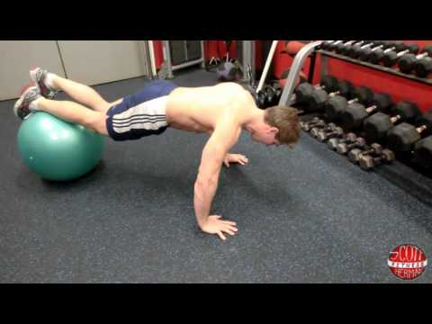 How To: Modified (Feet Up) Exercise Ball Push-Up