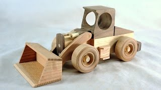 Make A Toy Front Loader - Free Plans