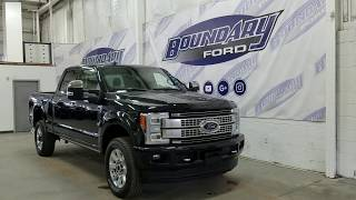 2019 Ford Super Duty F-350 SRW CrewCab Platinum W/ 6.7L Power Stroke Overview I Boundary Ford
