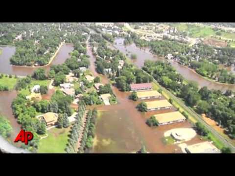 Raw Video: a Look at Minot Flooding From the Air