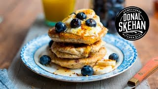 Blueberry & Banana Pancakes!