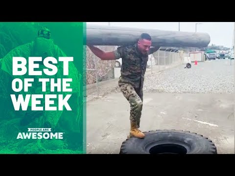 Tire Exercises, Rubik's Cube Solve & More | Best of the Week