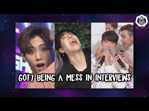 Got7 being a mess in interviews