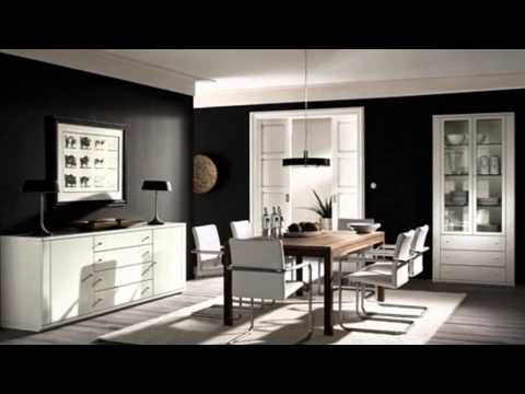 Черно белые цвета в интерьере комнат