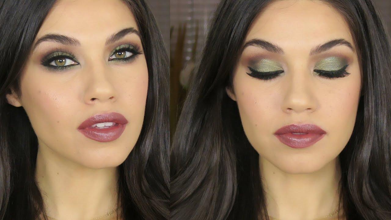 tutorial | green brown smokey eye makeup | eman