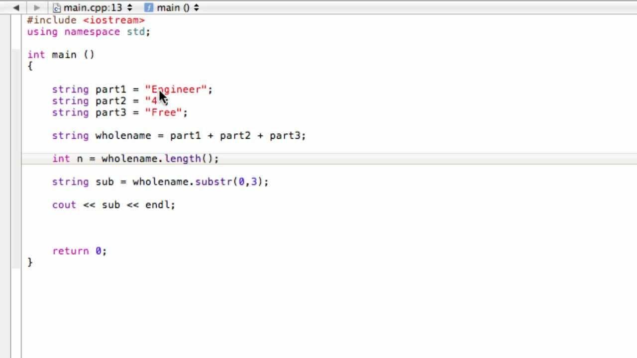 Using Strings As Variables C Programming Tutorial Youtube