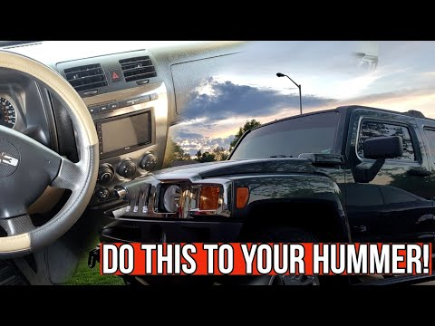 Installing a DOUBLE DIN in the HUMMER H3 | First Upgrade