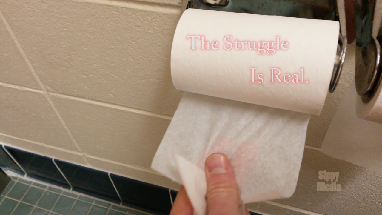 Rest-stop Toilet Paper...  The struggle is real.