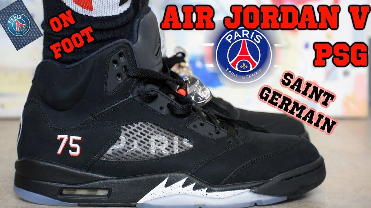 6c81b9e0647 Air Jordan 5 Paris Saint Germain - YouTube
