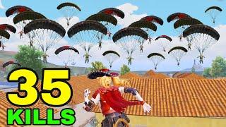 NEW BEST RUSH GAMEPLAY!!! | 35 KIĻLS vs SQUADS | PUBG MOBILE