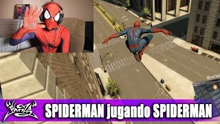 SPIDERMAN PROBANDO SU JUEGO (The Amazing Spiderman 2)