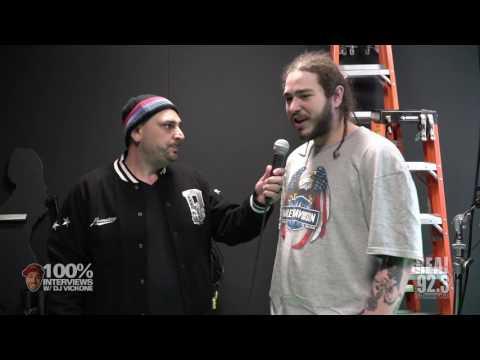100% INTERVIEWS W/ DJ VICK ONE AND POST MALONE!!!!