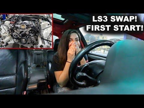 BMW E46 LS3 SWAP FIRST START!