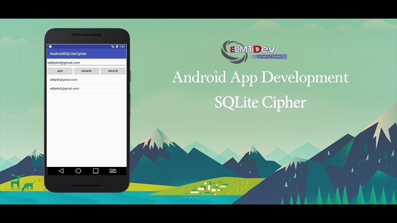 Android Studio Tutorial - SQLite Cipher