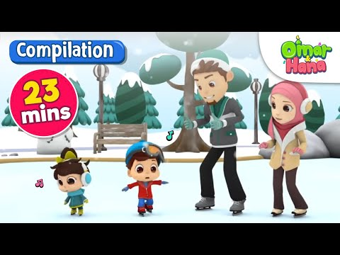 Omar & Hana Compilation Never Give Up, Loving Orphans | 24 Mins | Islamic Cartoon | Nasheed