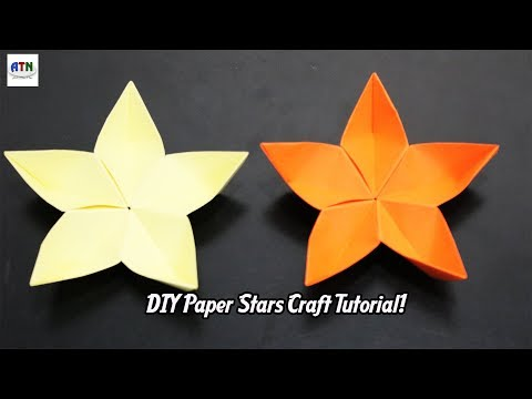 How To Make Origami Lucky Paper Stars | DIY Paper Crafts Idea Tutorial