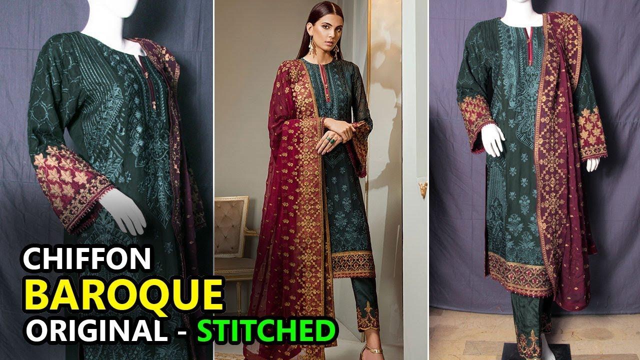 cda7787de7 Baroque Collection 2018 - Stitched Parure 02 Isabella Chiffon - Pakistani  Branded Clothes