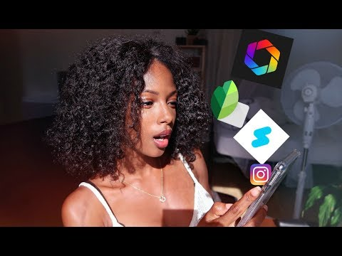 WHAT'S IN MY IPHONE X  + COMMENT JE RETOUCHE MES PHOTOS INSTAGRAM