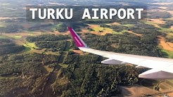 Landing at Turku Airport, Finland | Wizz Air Airbus A321-231