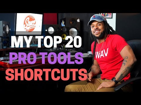 Top 20 Pro Tools Shortcuts 2018