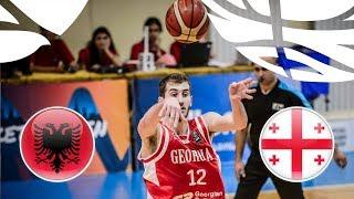 Albania v Georgia - Full Game - Class. 13-16 - FIBA U20 European Championship Division B 2018