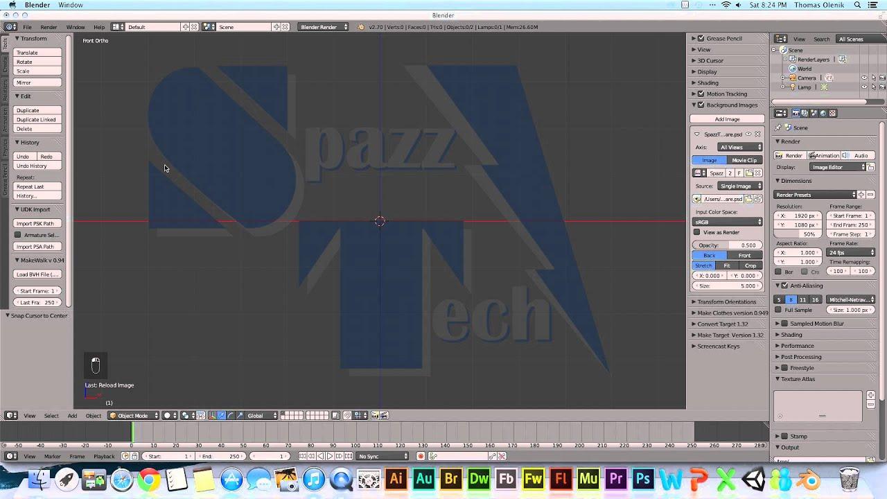 Background image not showing blender - Adding A Background Image In Blender 2 7