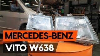 Kuinka ja milloin vaihtaa Kaukovalo polttimo MERCEDES-BENZ VITO Box (638): opetusvideo