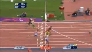 Mens 100m Paralympic Final 2012   Jason Smyth - World Record - 10.46