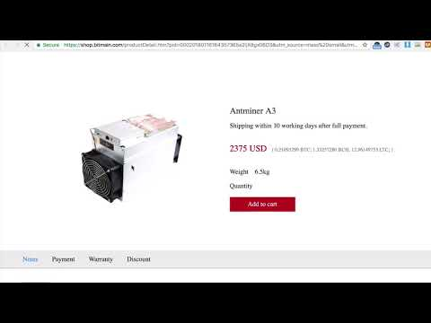 Buying Antminer A3 - $12,000+ USD/Mo Profit (As of Jan 17, 2018)