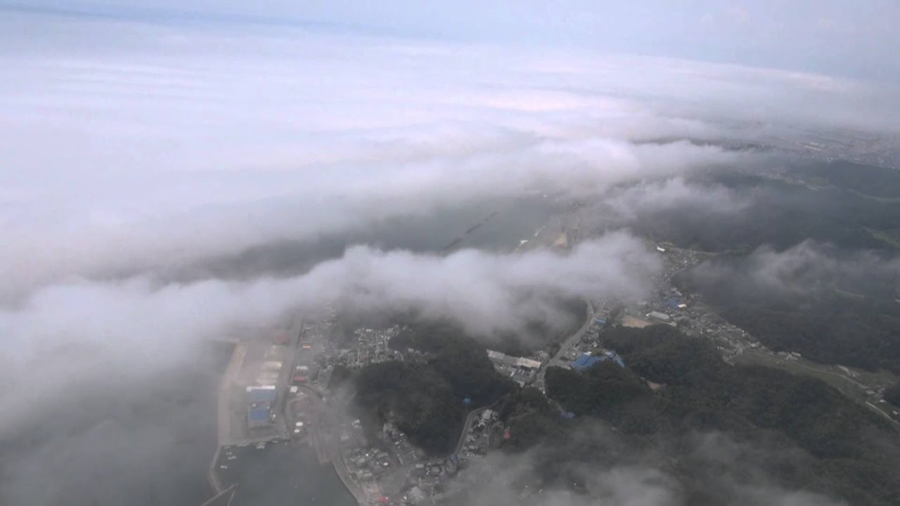 雲の上を散歩 2 (低い雲 高度50m~200m) 新舞子海岸 永崎海岸 - YouTube