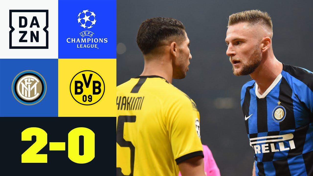 Verdiente Pleite für harmlosen BVB: Inter - Dortmund 2:0 | UEFA Champions League | DAZN Highlights
