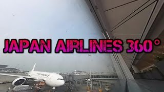 Japan airlines Hong Kong Airport in 360 Degrees 日本航空