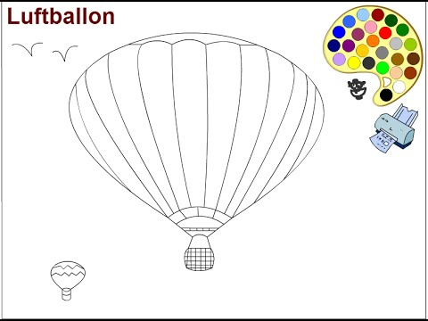 hot air balloon coloring pages for kids - hot air balloon coloring ... - Hot Air Balloon Pictures Color